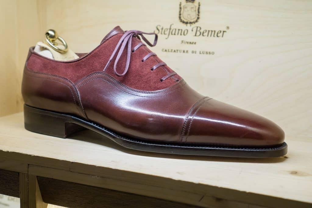RTW-modell i typiskt mönster för Stefano Bemer. Just hans design är kanske det han är mest känd för när det gäller hans egna kreationer.