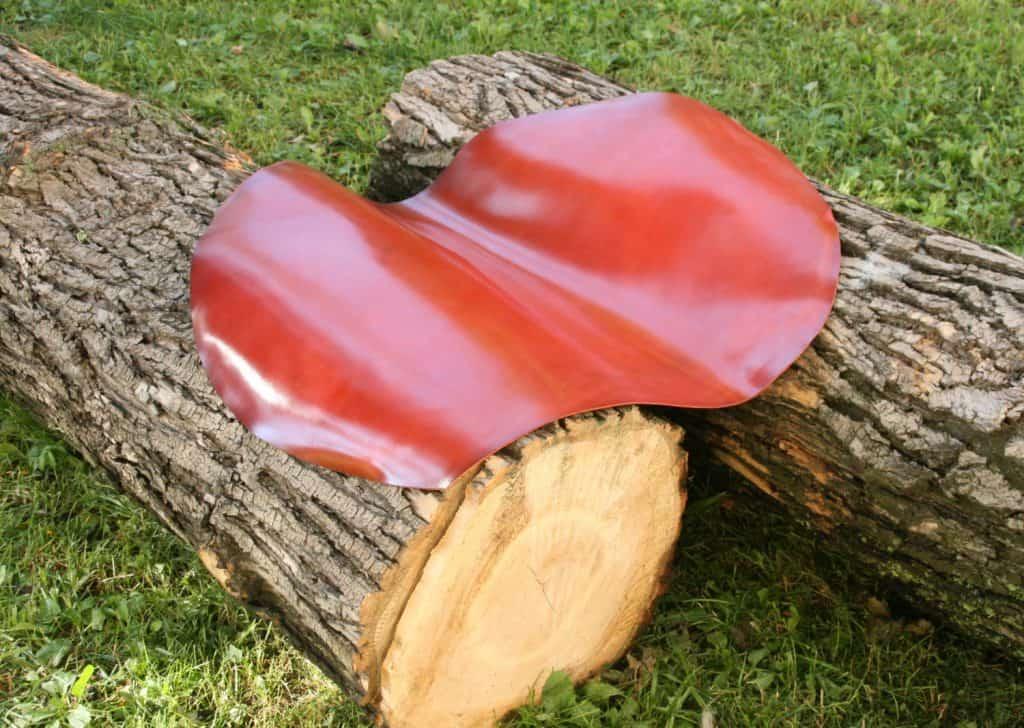 Så en färdig hud från Shell Cordovan, i nyansen Cranberry.