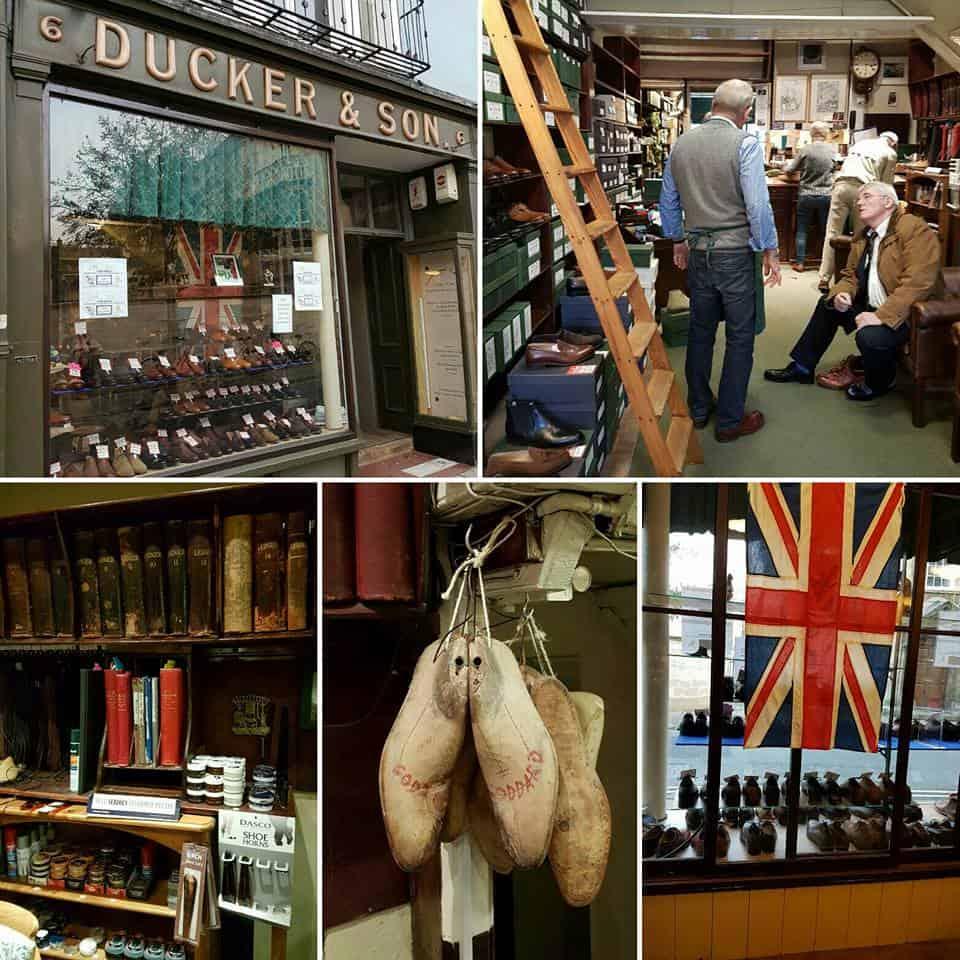 Gammaldags brittiskt så det förslår i Duckers lokaler. Bild: Ascot Shoes