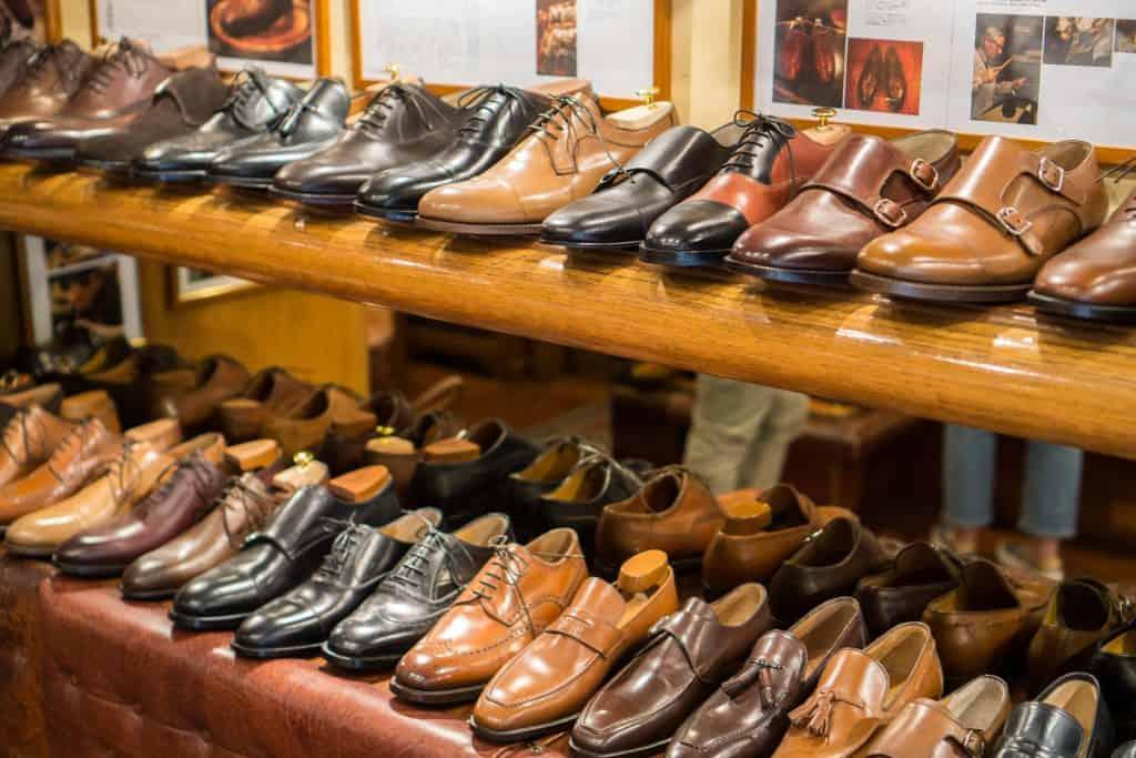 RTW-skor i butiken.
