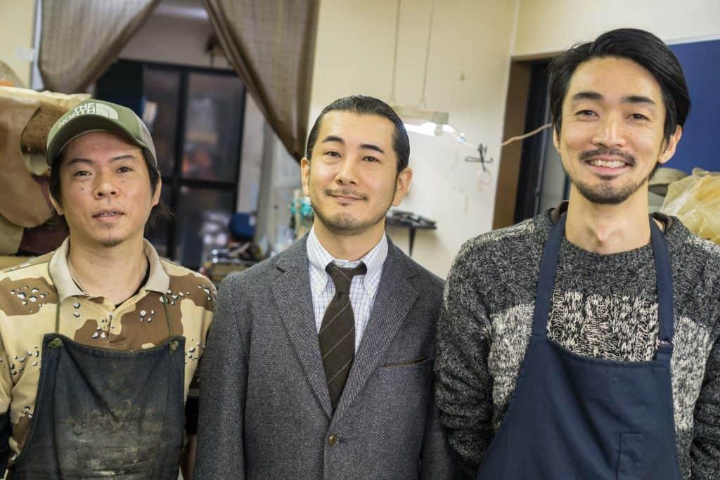 Atsushi Okada, James Komasawa och Kazutoshi Endo. Personerna bakom Joe Works.
