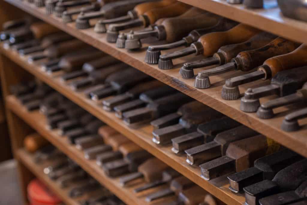 Yohei Fukudas verktygshylla.