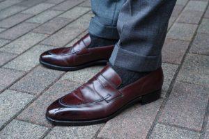Tipset - Mörkblå skokräm på skor i burgundy, mörkbrunt och svart